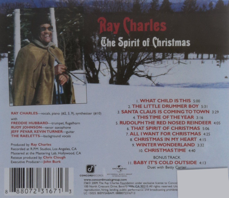 ray charles spirit of christmas amazoncom music - Spirit Of Christmas Ray Charles