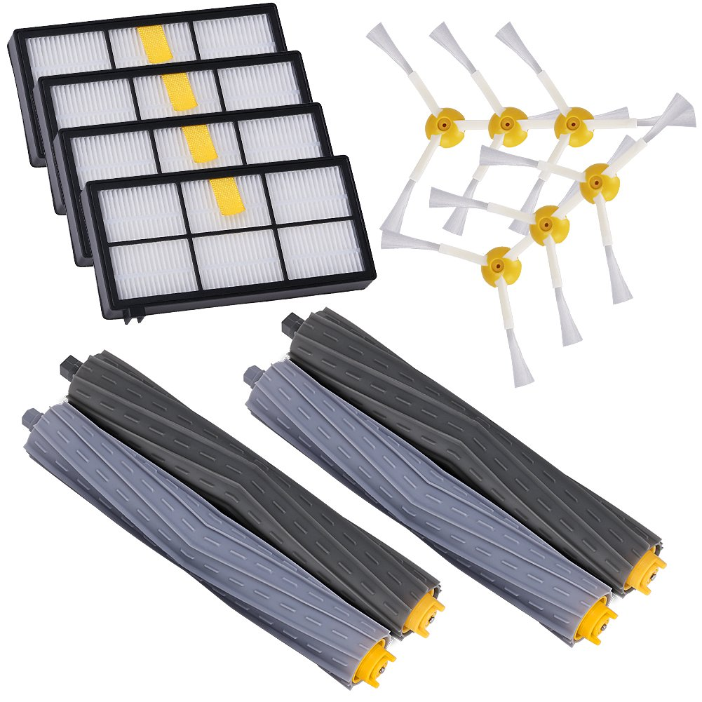 GHB Accessories for iRobot Roomba 880 860 870 871 980 990 Replenishment Parts Spare Brushes Kit