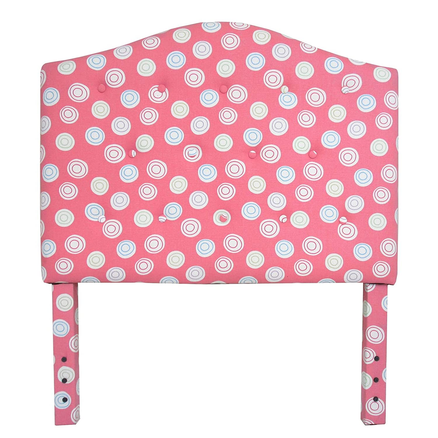 Amazon.com: Kinfine Youth Upholstered Twin Arched Headboard, Tufted Swirls  on Pink: Kitchen & Dining - Amazon.com: Kinfine Youth Upholstered Twin Arched Headboard