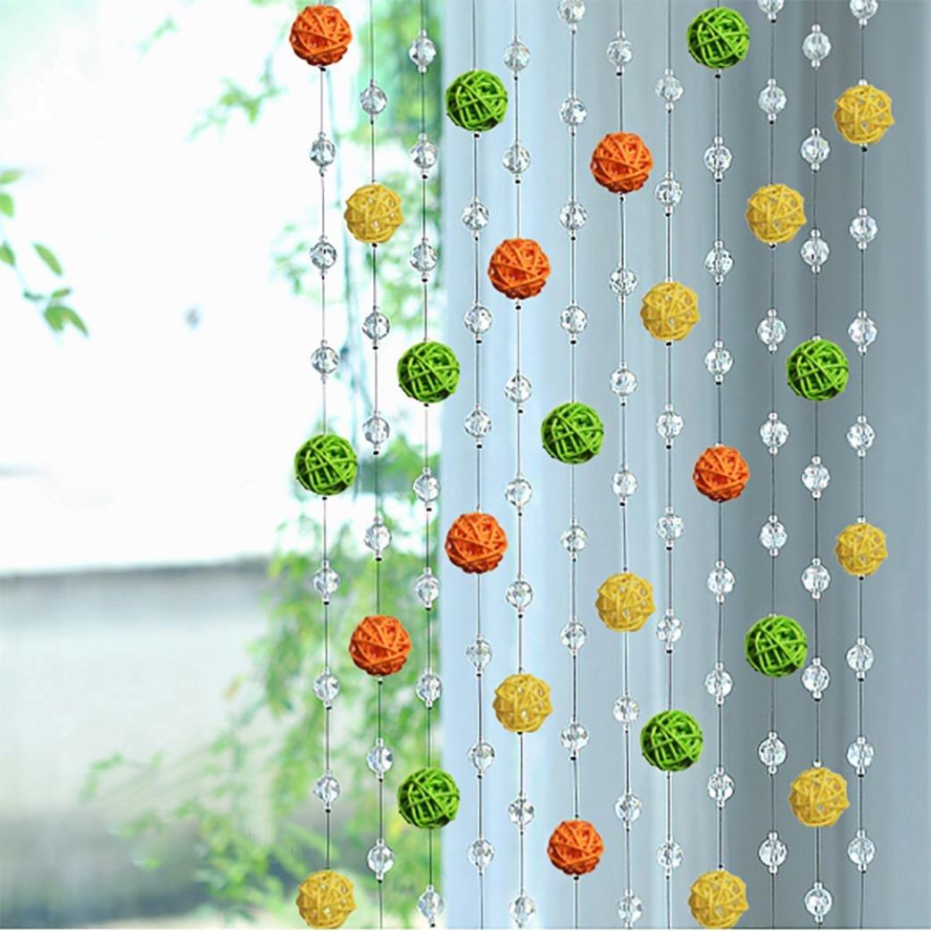 hunpta Sepak Takraw Bead Kristall glasscurtain Wohnzimmer Schlafzimmer Fenster Tür Decor a