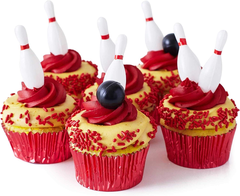 Cakegirls Bowling Cupcake Toppers Kit - (20) 3