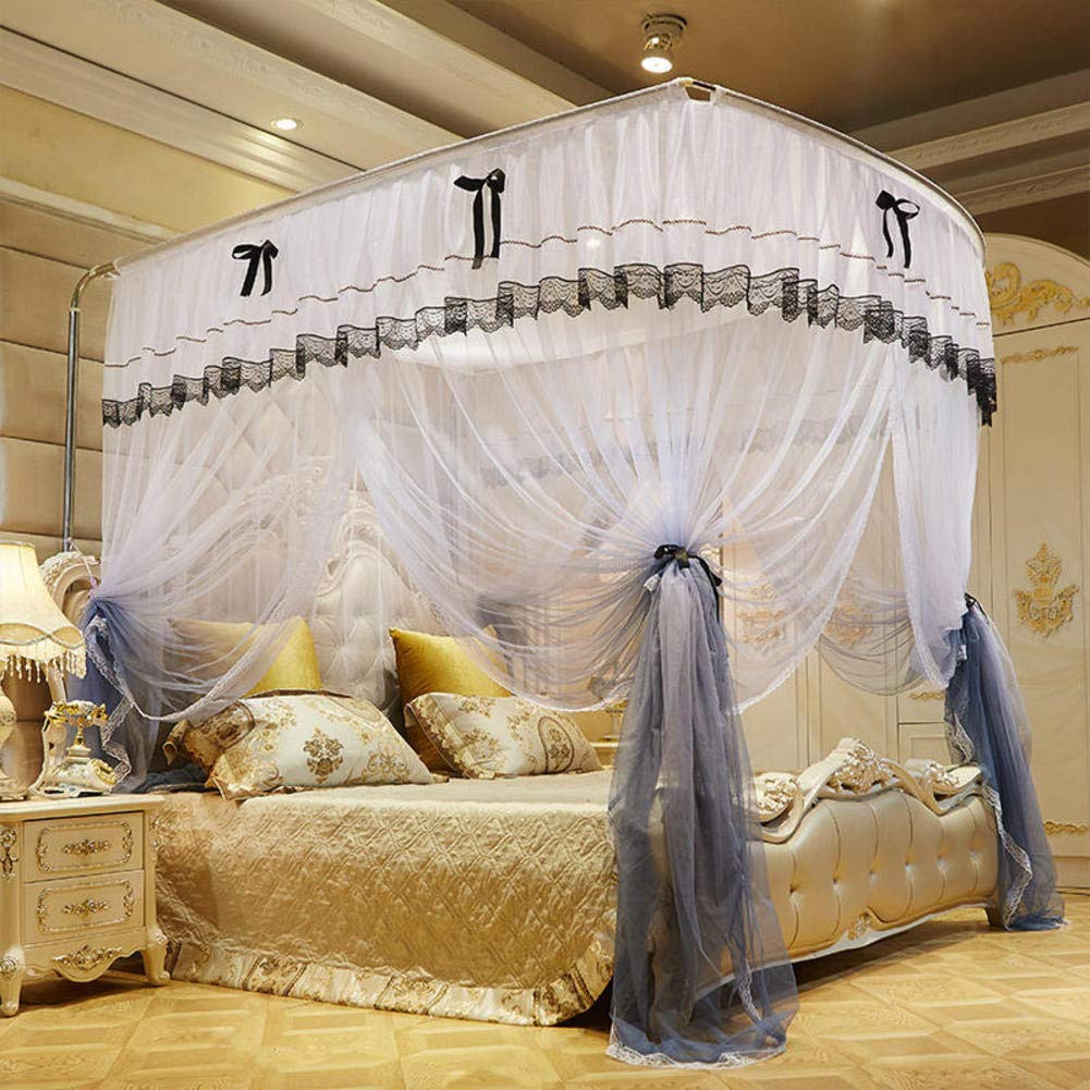 KE & LE Princess Mosquito Net, Lace Dome Tent Mesh Canopy Curtains with Bottom for Children Fly Insect Home Travel Protection Indoor Outdoor Decorative Mosquito Net-b W:200cmxh:210cmxd:220cm