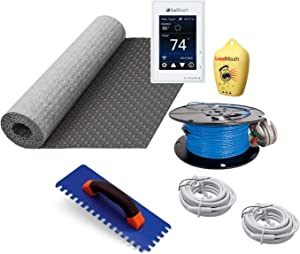 Suntouch Warmwire Radiant Floor Heating Kit - 80 Square Feet - Includes Suntouch Connect WiFi Thermostat, HeatMatrix Membrane, 120080WB-CST Heat Cable and Safe Installation Tools