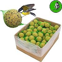 """100 x 90 g = 9 kg Meisenknödel Marke """"Vogelfood"""" Vogelfutter Wildvogelfutter Ganzjahresfutter Fettfutter mit Netz"""