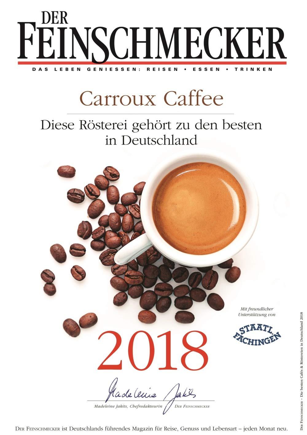 CARROUX Café espresso de grano entero (6x 500 gr.) para cafetera ...