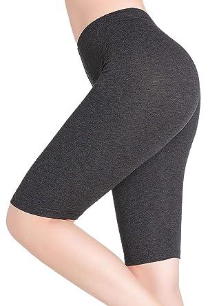 cbe7c439869b Damen Kurze Leggings Knielang Bequeme Dünn Hose Unter Rock Stretch Yoga  Shorts