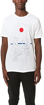 RVCA Street Party Playera para Hombre - Blanco - Medium: Amazon.es: Ropa y accesorios
