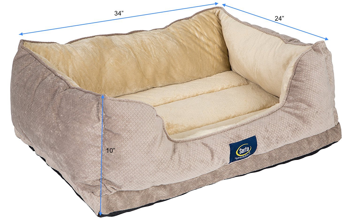 serta dog ca bed pet cuddler grey dp amazon supplies