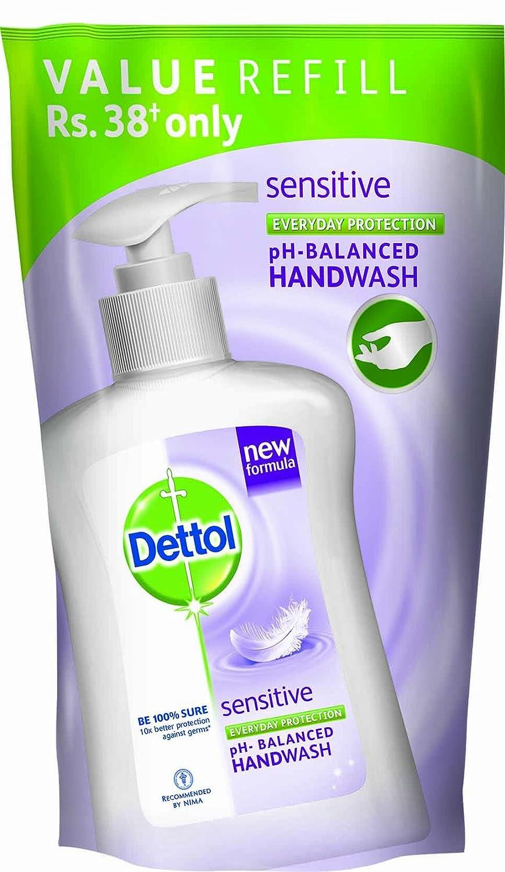 Dettol Ph Balanced Liquid Handwash Refill Pouch Sensitive 185 Ml Body Wash Cool 450 Health Personal Care