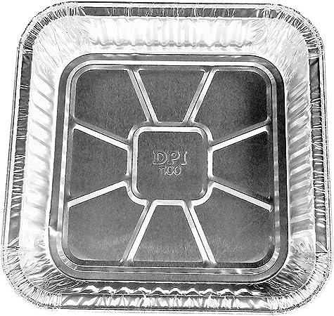 Disposable Aluminum 9 X 9 X 1 3 4 Square Cake Pan 1100NL 100