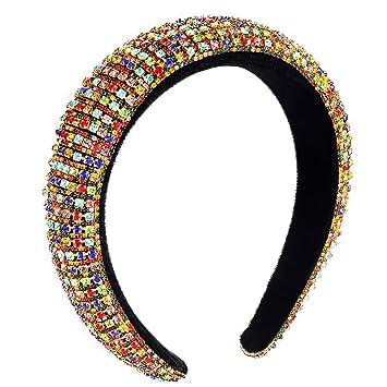 Women/'s Fashion Rhinestone Headband Cross Slender Hairband Hair Accessory Party
