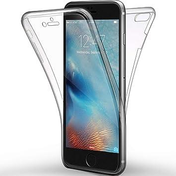 Funda de iPhone 6, 6s Carcasa , Leathlux iPhone 6s Silicona Gel Cover Caso Bumper Shock-Absorción Protectora de Cubierta para iPhone 6 / 6s Negro