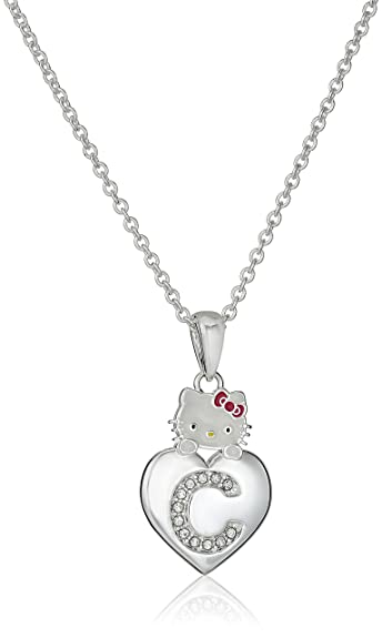 ad136ffdb Amazon.com: Hello Kitty Girls' Crystal and Enamel