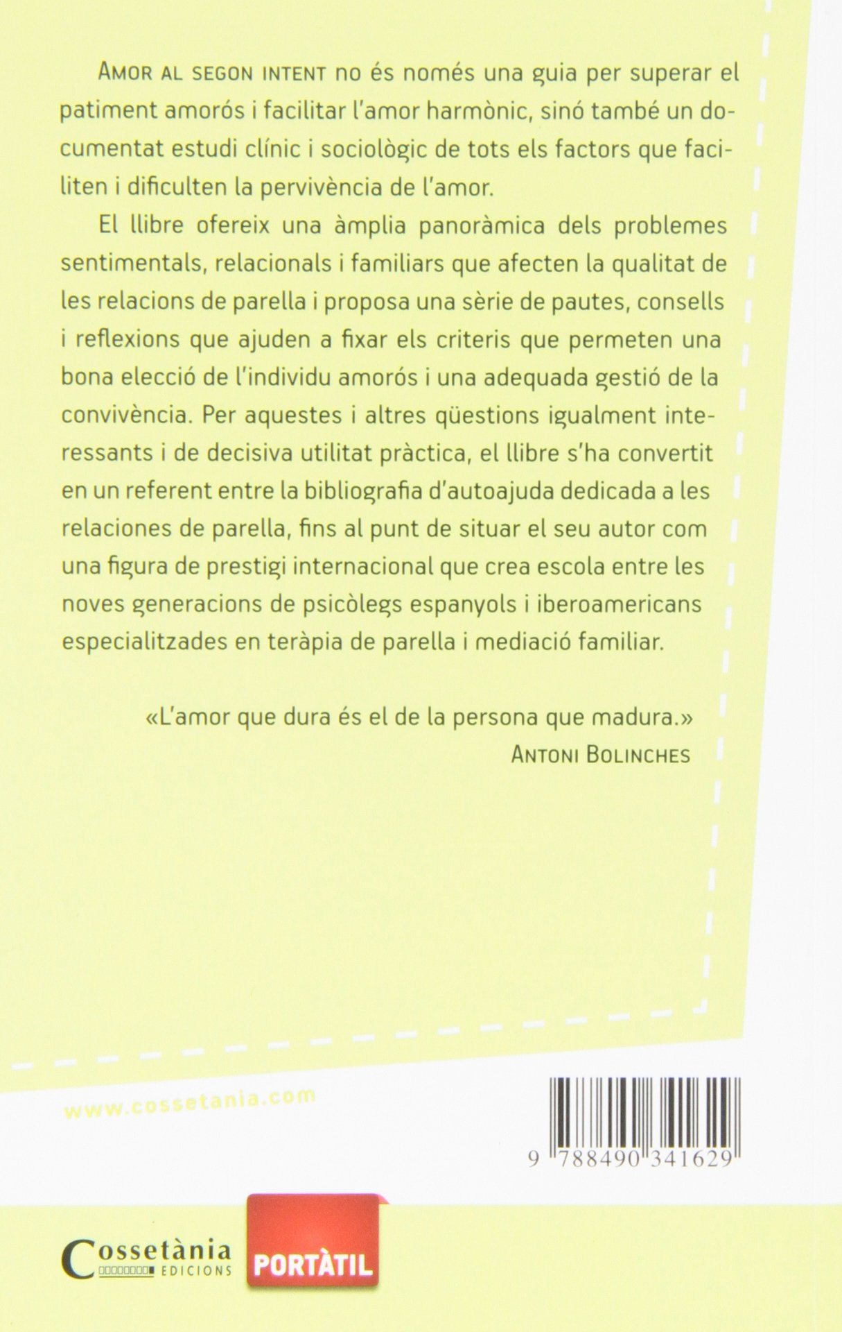 Amor Al Segon Intent (Biblioteca Antoni Bolinches): Amazon.es: Antoni Bolinches: Libros