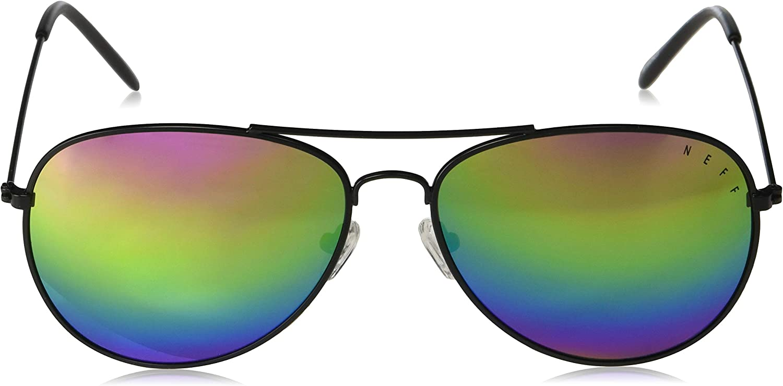 Neff mens Neff Bronz Aviator Sunglasses Uva Uvb Protective Unisex Bandana