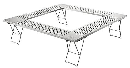 Amazon.com: Coleman 2000010397 Fire Place Table - Mesa de ...