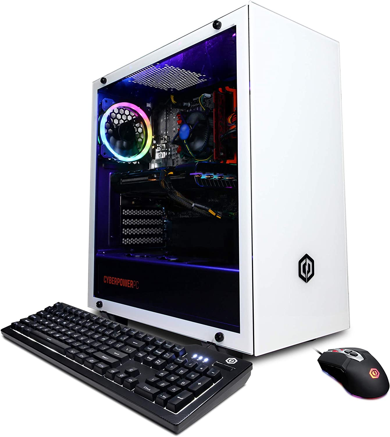 CyberpowerPC Gamer Xtreme VR Gaming PC, Intel Core i5-10400 2.9GHz, 8GB DDR4, AMD Radeon RX 5500 XT 8GB, 240GB SSD, 2TB HDD, WiFi Ready & Win 10 Home (GXiVR8020A8, White)