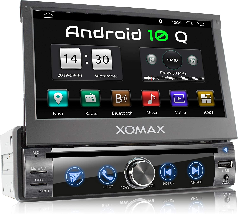 XOMAX XM-DA759 Radio de Coche con Android 10 I Quad Core, 2GB RAM, 32GB ROM I GPS I Soporte WiFi, 3G, 4G, Dab+, OBD2 I Bluetooth I 7