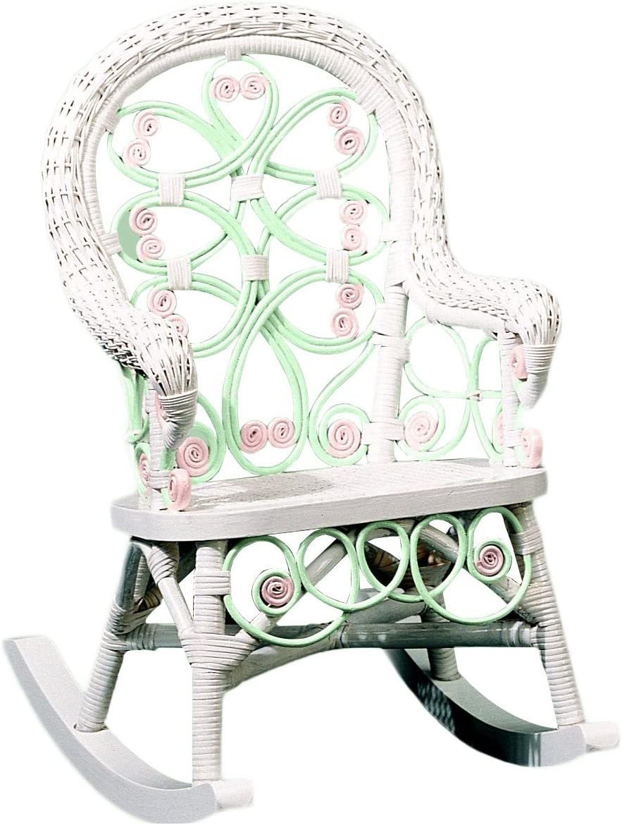 Spice Islands Victorian Child s Rocker, Green Pink
