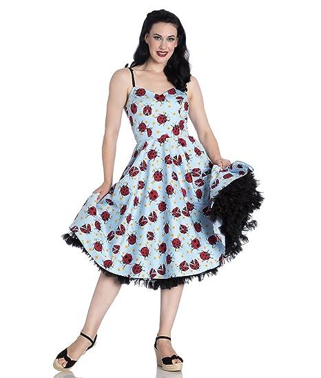 a55514622ee Hell Bunny Lila Ladybird 50s Style Summer Dress  Amazon.co.uk  Clothing