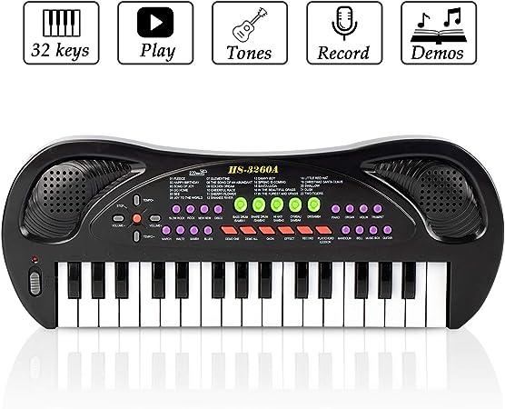JINRUCHE Kids Piano, 32 teclas multifunción, teclado de piano ...
