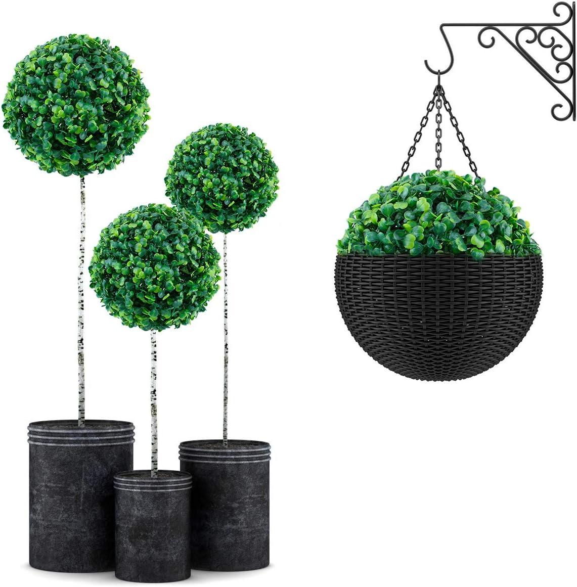 decorazione per feste e matrimoni guida per palline in legno di bosso e fiori topiari rotondi per sepak taakraw E-Bestar Pallina di erba artificiale Milano
