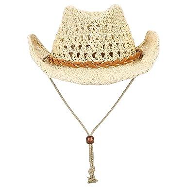 9632b1a18 Foldable Cowboy Hat Shapeable Wide Brim Sun Protection Straw Hats ...