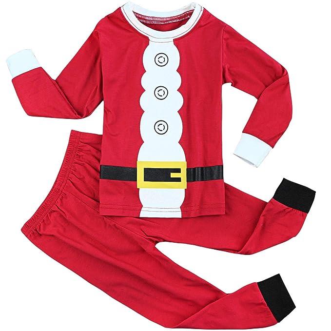 Fancyinn Chicos Chicas Conjuntos de Pijamas de Navidad Niños pequeños Reno Disfraz Manga Larga Ropa de