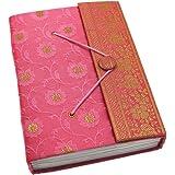 Fair Trade Tagebuch Sari Groß 135 x 180 mm - rosa
