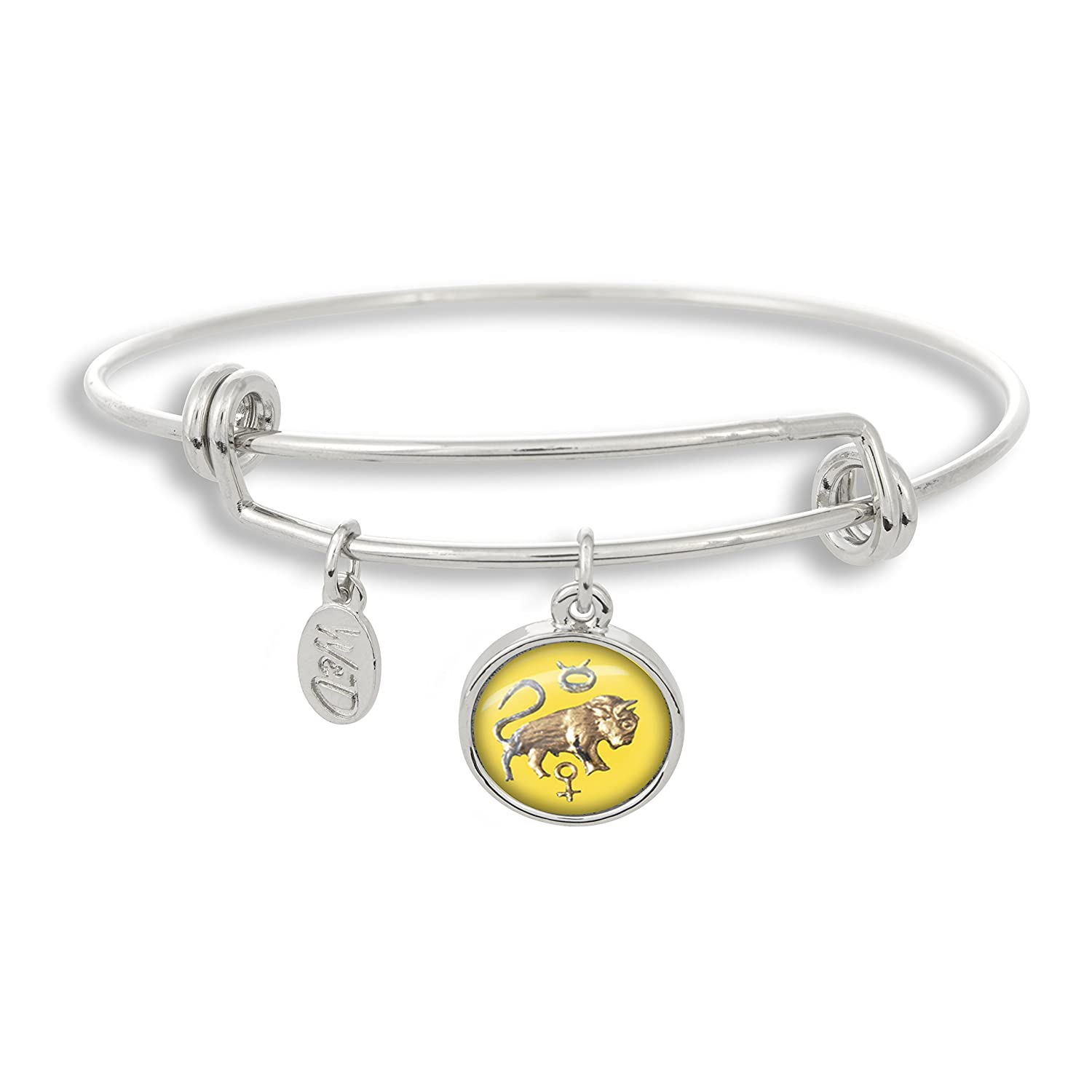 The Adjustable Band Bangle Bracelet featuring the ancient Taurus astrology sign