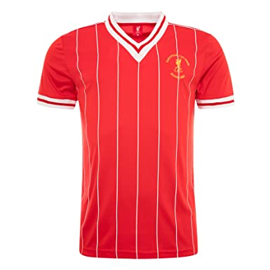 cc3f625963e Liverpool FC Autumn-Winter 2016 Polyester Red Mens Retro Rome 1984 Short  Sleeve Shirt Available Sizes S