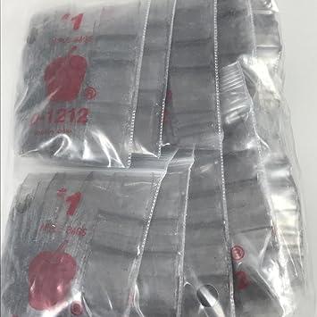 1212 Original Mini Ziplock 2.5mil Plastic Bags 1//2 x 1//2 Reclosable Baggies The Baggie Store Red