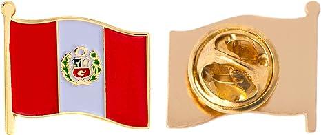 Pin de solapa con la bandera del Perú esmaltado hecho de metal ...