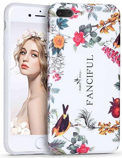 8ad637b6c7 Imikoko iPhone7 iPhone8 Plus ケース アイフォン 7/8 プラスケース スマホケース case 保護カバー 花