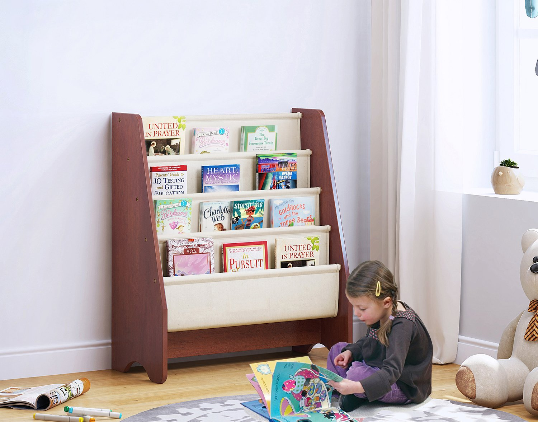 Amazon.com: Utex Kids Sling Bookshelf, Magazine Rack - Book Rack For ...