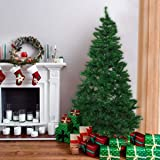 Bocca 7 FT Christmas Artificial Pine Tree Full Branches with Strong Iron Stand Indoor and Outdoor (Green)