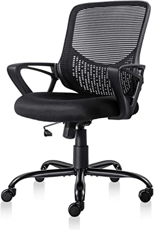 Smugdesk Ergonomic Office Chair with Lumbar Support - Durable Casters