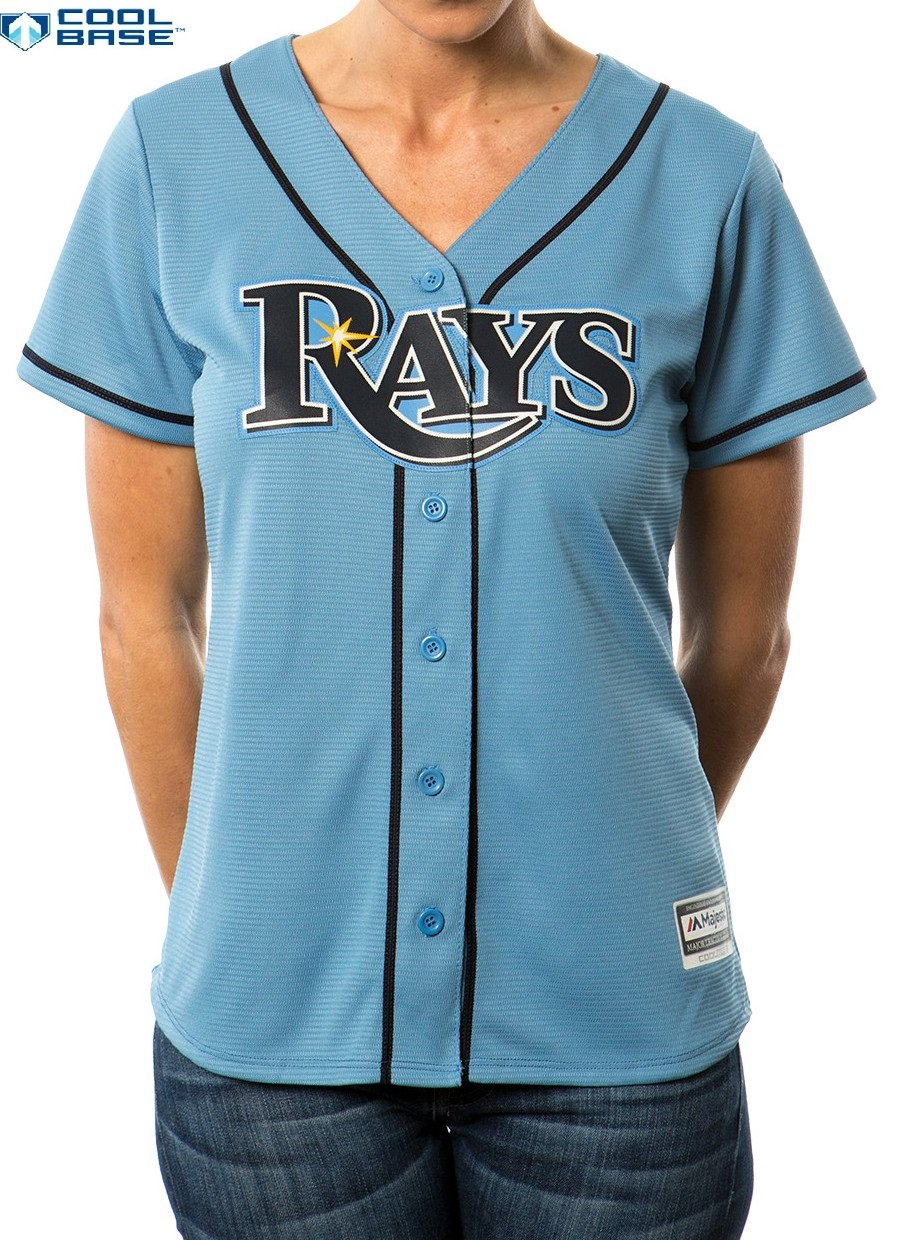 buy online 1a1fe f4365 Tampa Bay Rays MLB Women's Cool Base Alternate Jersey Blue ...