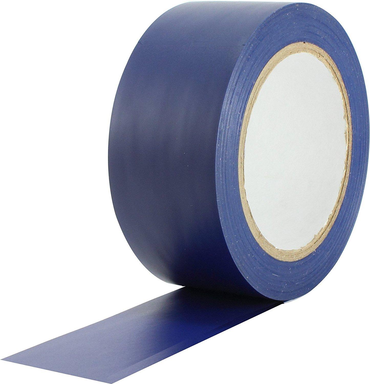 WINGONEER 36 Yards General Purpose Vinyl Tape Color Coding Pack Floor Marking Tape - Blue