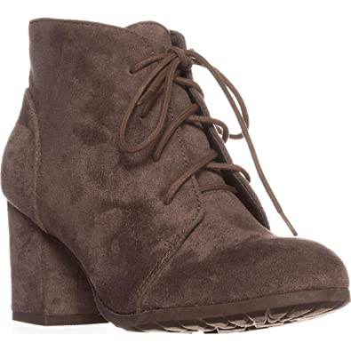 2b7981493 Amazon.com | madden girl Torch Lace-Up Ankle Boots, Dark Taupe, 5.5 ...