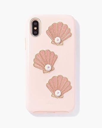 Amazon.com: Carcasa de piel con diseño de perlas para iPhone ...