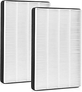 LINNIW 2 Pack True HEPA Replacement Filter F2 Compatible with Filtrete Room Air Purifier Models FAP-C02-F2, FAP-T03-F2, Part No. FAPF-F2-O