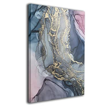 MAULTBY Blush and Payne's Grey Flowing Abstract Art Painting 16 x20  Canvas Painting Wall Art Printmaking Photo Contemporary Home Decor Artwork
