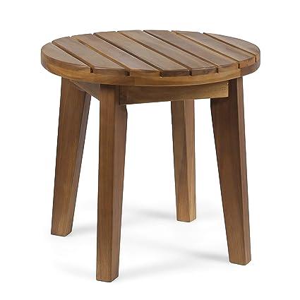 Amazon.com: Gran mesa auxiliar de madera de acacia para ...