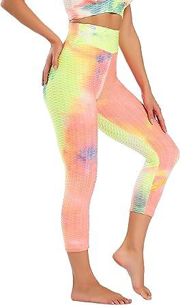 CROSS1946 Damen Sport Leggins High Waist Gym Fitness Legging Hohe Taille Yoga Hosen Blickdicht atmungsaktiv Sporthose Yogahose Streetwear