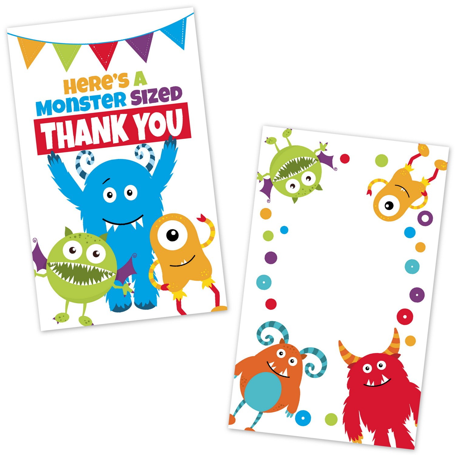 Amazon.com: Kids Party Favor Tags - Monster Birthday Party Favor ...