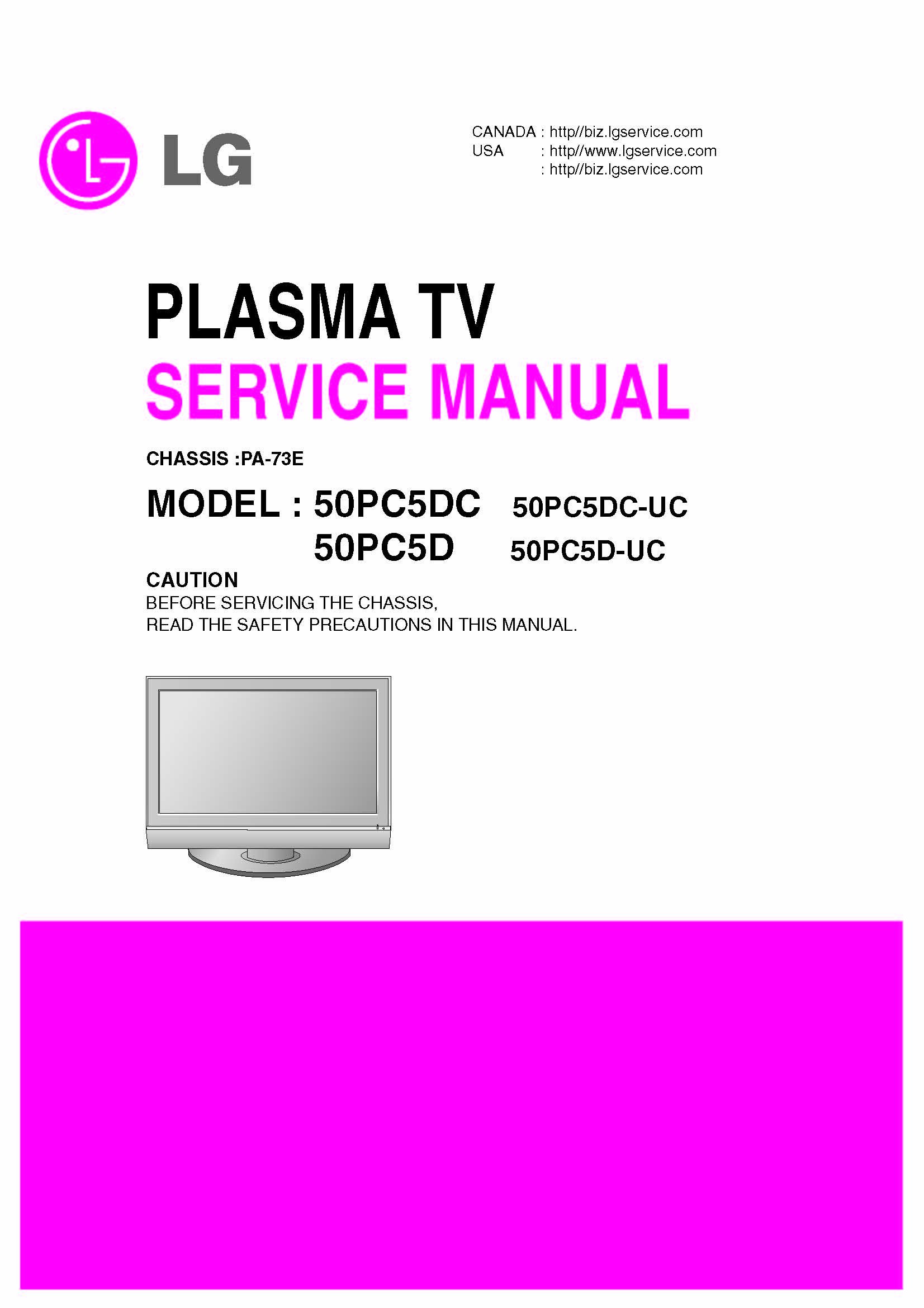 lg 50pc5dc 50pc5d 50pc5dc uc 50pc5d dc service manual lg amazon rh amazon com LG Plasma Replacement Parts LG Plasma Parts
