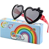 CGID Soft Rubber Kids Cute Heart Polarized Sunglasses UV400 for Children,K78