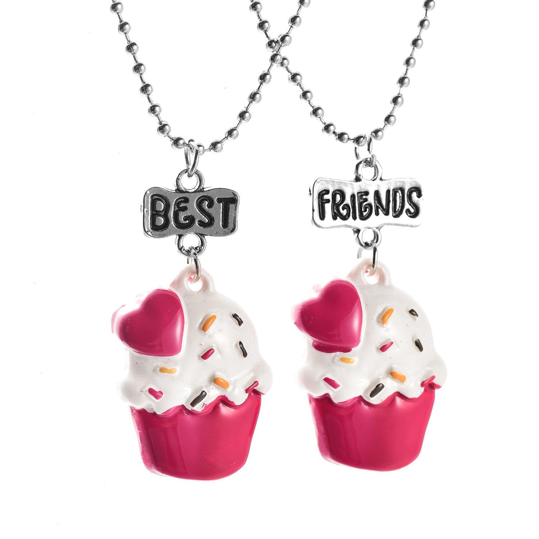 oaonnea Best Friends 2Stück Anhänger Freundschaft Halsketten Set OAONNEA Jewelry NL-0401-2A