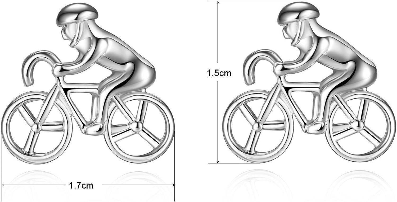HONEY BEAR Racing Sport V/élo Cyclisme Boutons de Manchette pour Homme pour Homme de Cadeau de Mariage